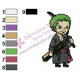Roronoa Zoro One Piece Embroidery Design 04